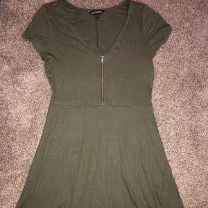 Olive green Express dress